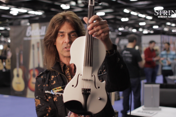 2 New Mark Wood Electric Violins Namm 2017