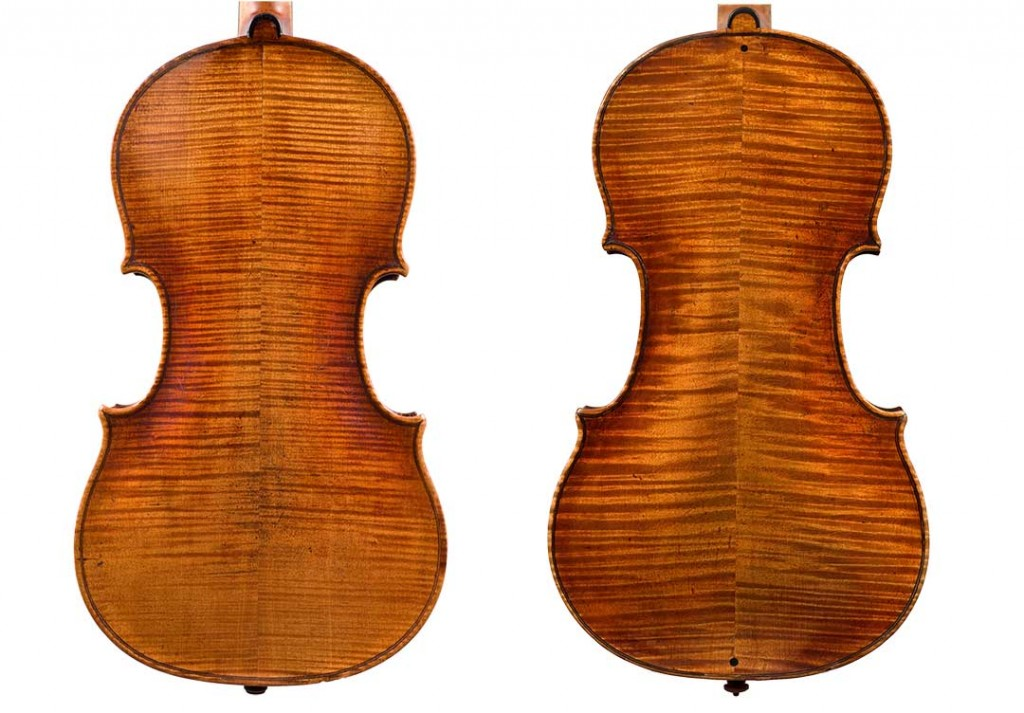 Ex. 6: The mystery instrument (right) compared to a Voller Brothers copy