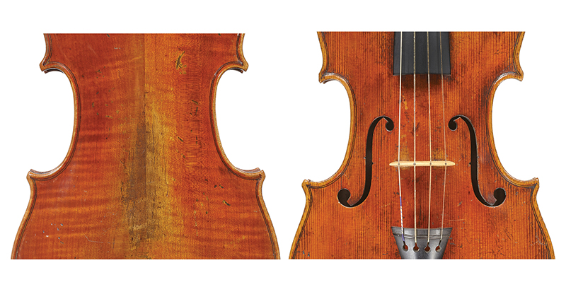 VINCENZO PANORMO A violin of the Dublin period; all the classic attributes of Vincenzo's work are visible in the f-holes, purfling, and corners of this violin.