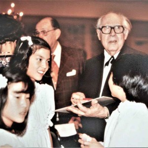 Anne Akiko Meyers as a child and Post-concert with Andres Segovia