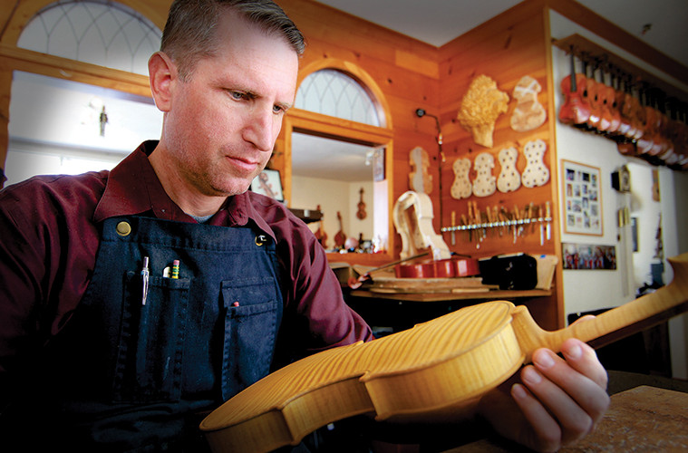 Luthier Eric Benning talks about purfling