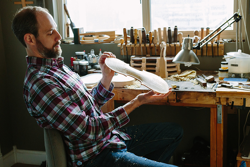 Luthier R. Alex Wilson studied at the Violin Making School of America