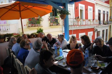 january group at lunch in havana cuba