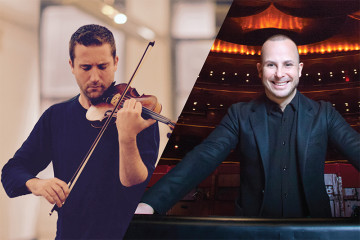 Benjamin Bowman and Yannick Nézet-Séguin share the role of concertmaster of the Metropolitan Opera